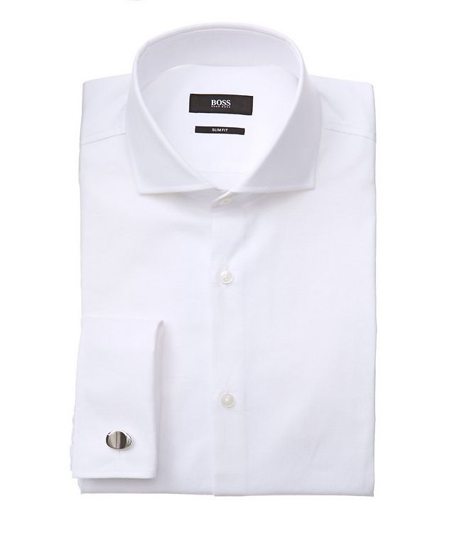 Slim Fit Tonal Dress Shirt picture 1