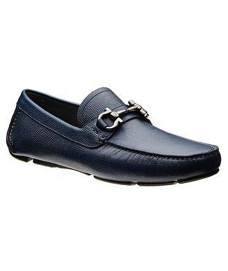 Salvatore Ferragamo Gancini Bit Calfskin Driving Shoes