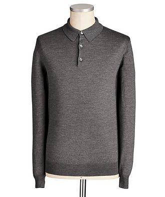 Maurizio Baldassari Long-Sleeve Silk Blend Polo
