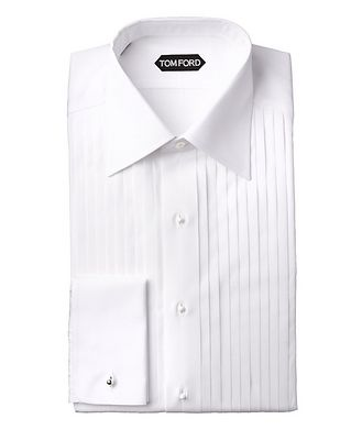 TOM FORD Slim Fit French Cuff Tuxedo Shirt