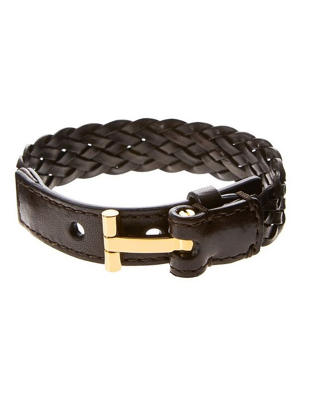 Braided Leather Wrap Bracelet picture 1
