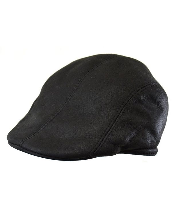Shearling Driving Cap picture 1