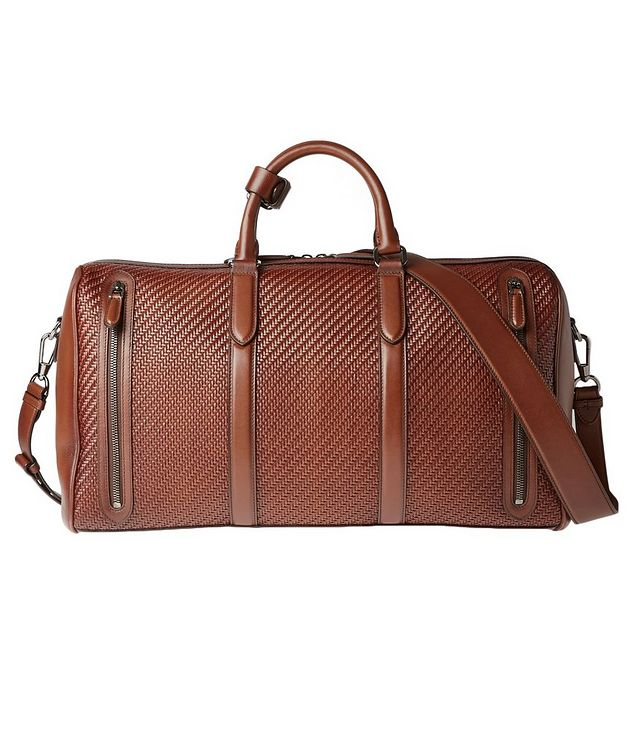 Woven Leather Weekender Bag picture 2