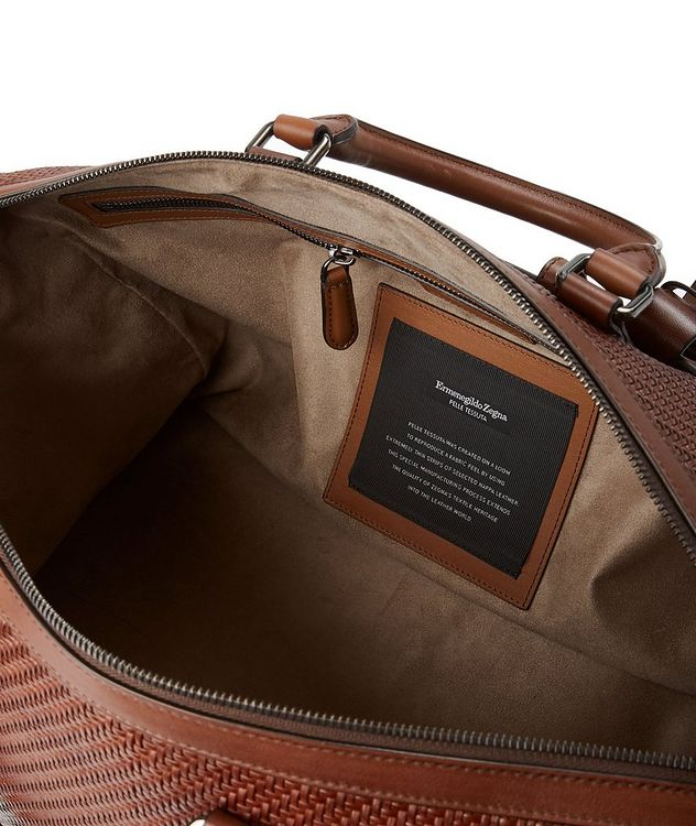 Woven Leather Weekender Bag picture 3