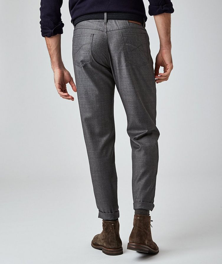 Pantalon en laine de coupe contemporaine image 1