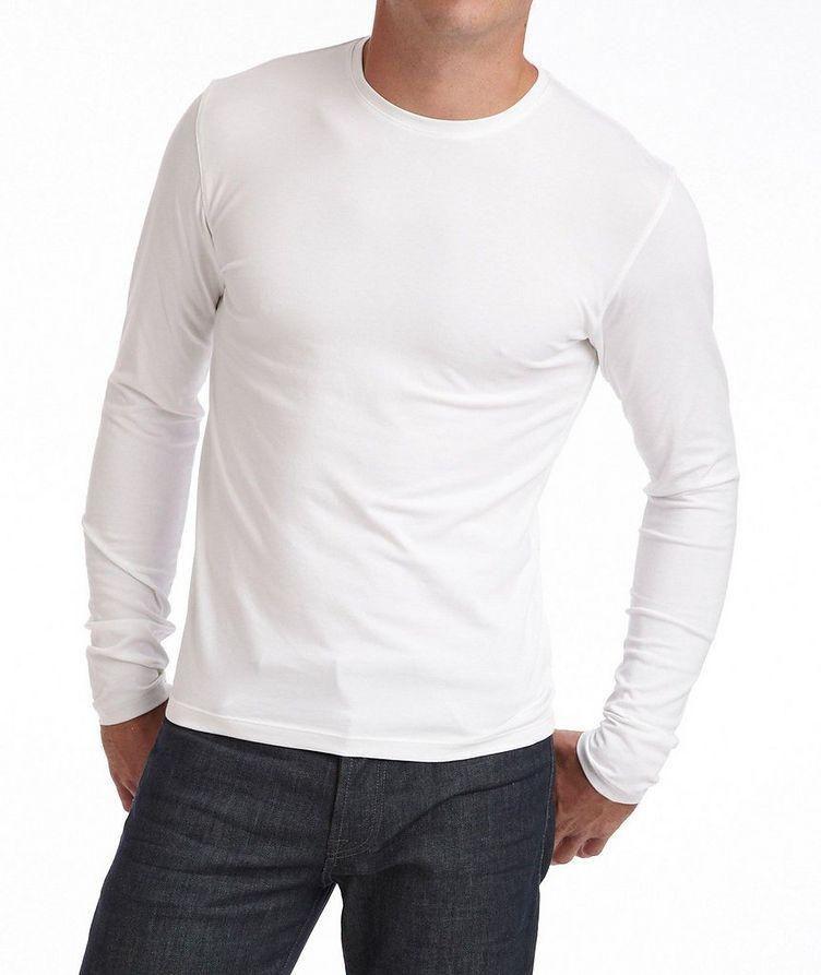 T-shirt en coton pima à manches longues image 0
