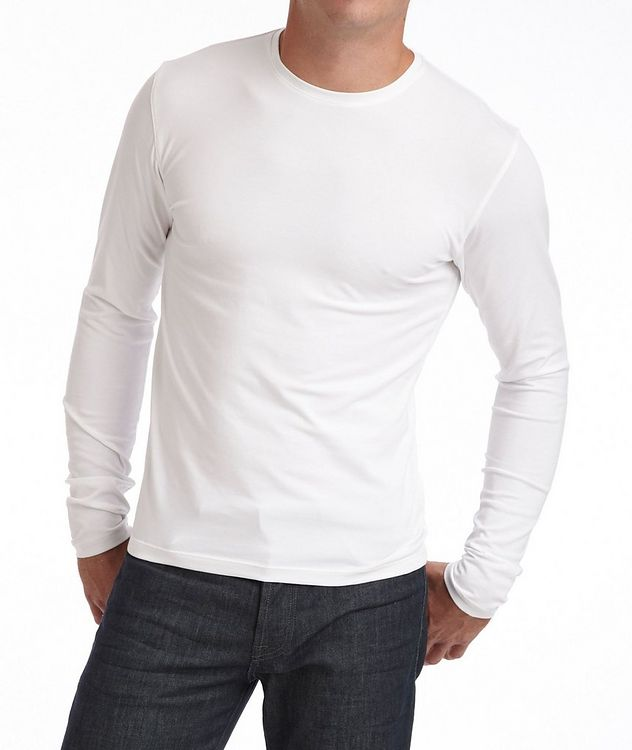 Long-Sleeve Pima Cotton T-Shirt picture 1