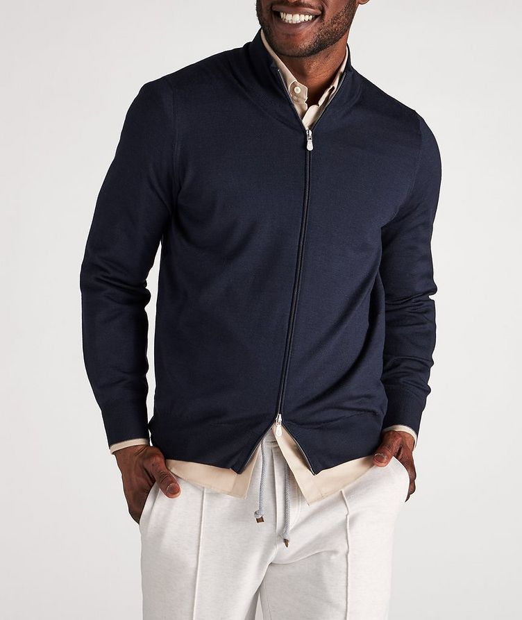 Cashmere & Virgin Wool Zip-Up Cardigan image 1