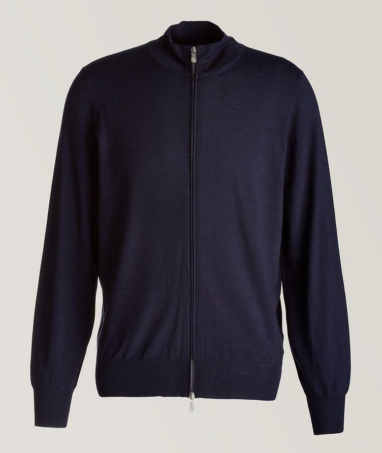 Cashmere & Virgin Wool Zip-Up Cardigan image 0