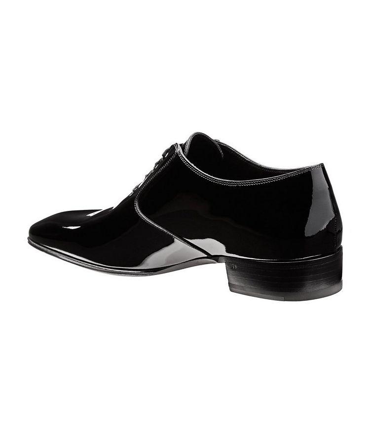 Chaussure lacée en cuir verni image 1