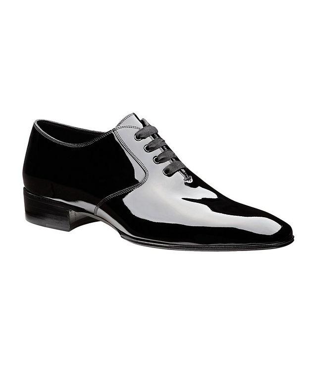 Chaussure lacée en cuir verni picture 1