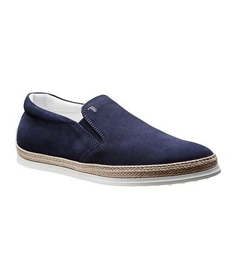 Tod's Suede Espadrille Slip-Ons