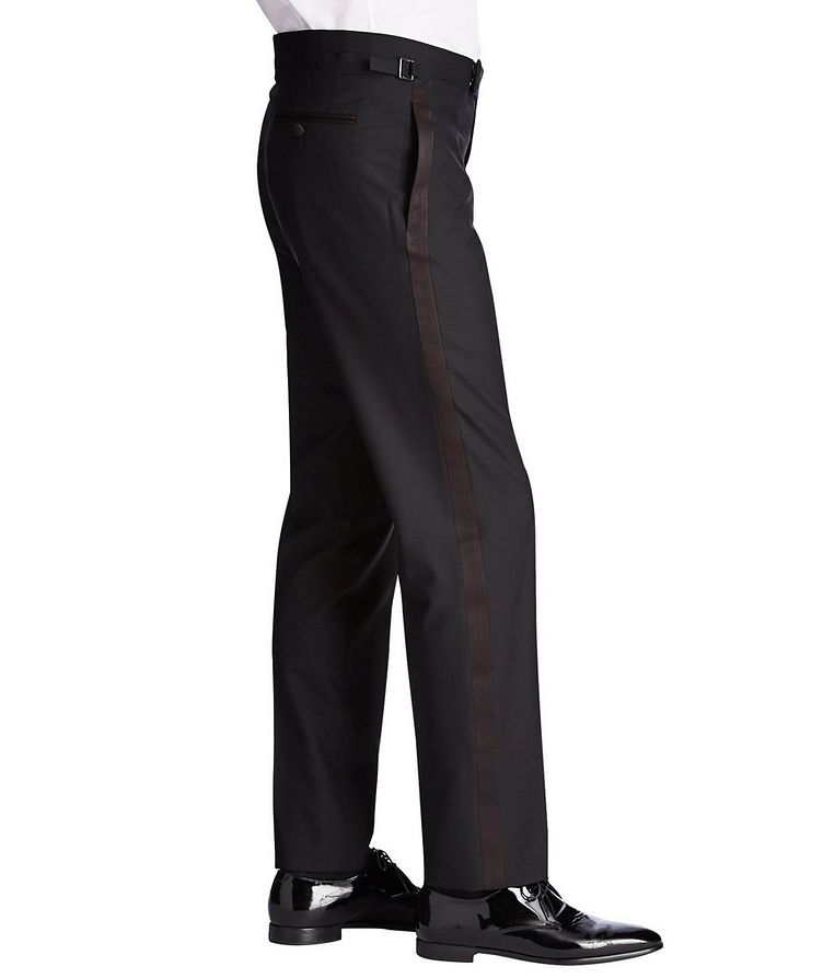 Silk Trimmed Tuxedo Pants image 2