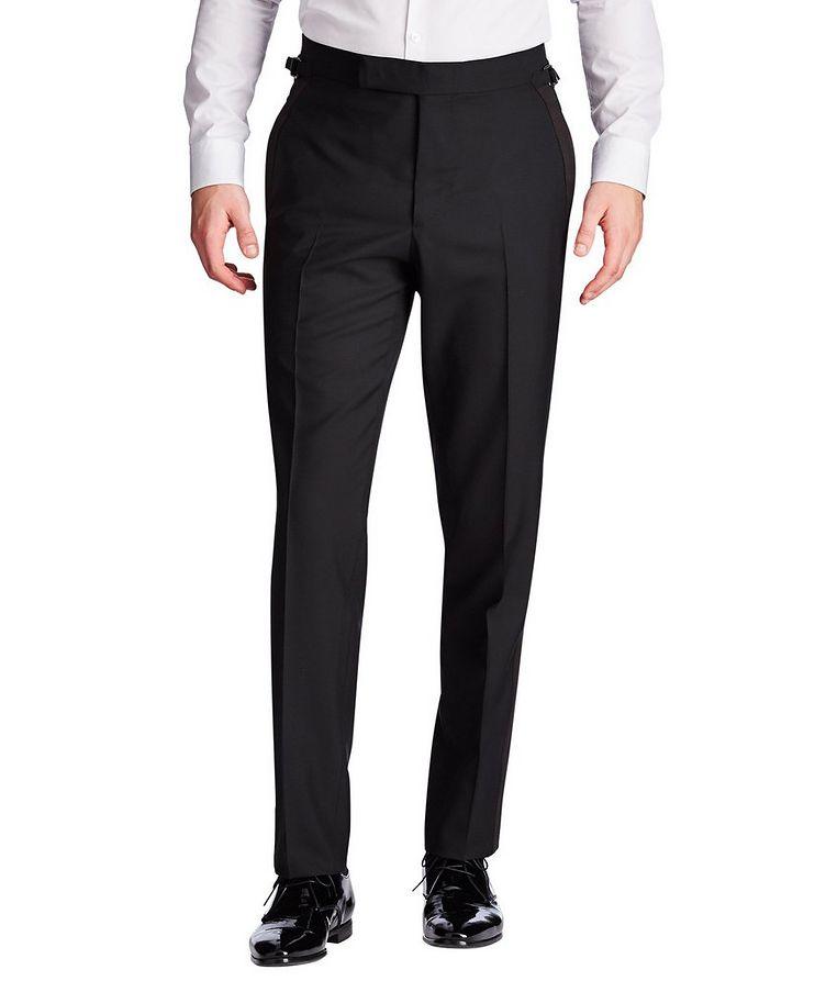 Silk Trimmed Tuxedo Pants image 0