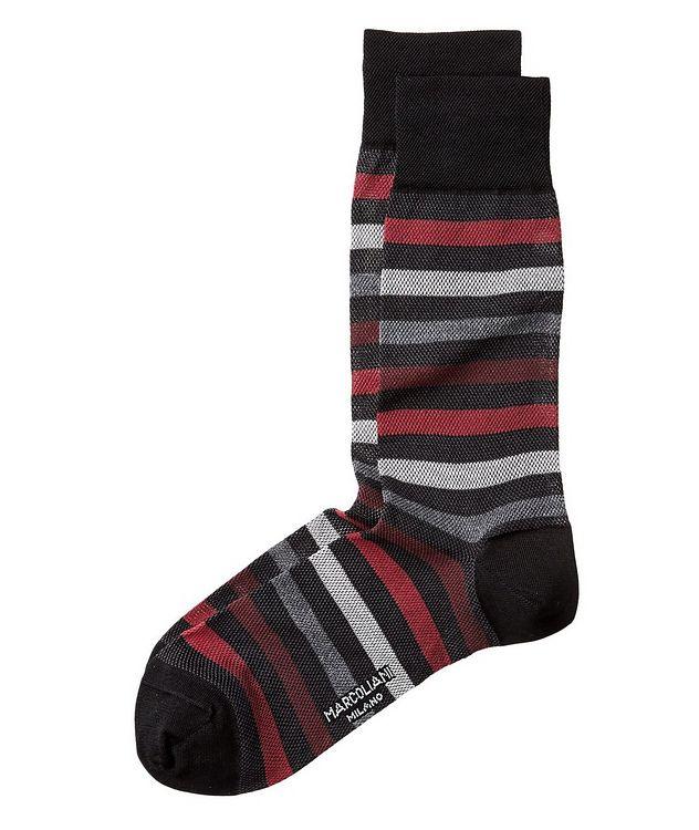 Chaussettes rayées en coton picture 1