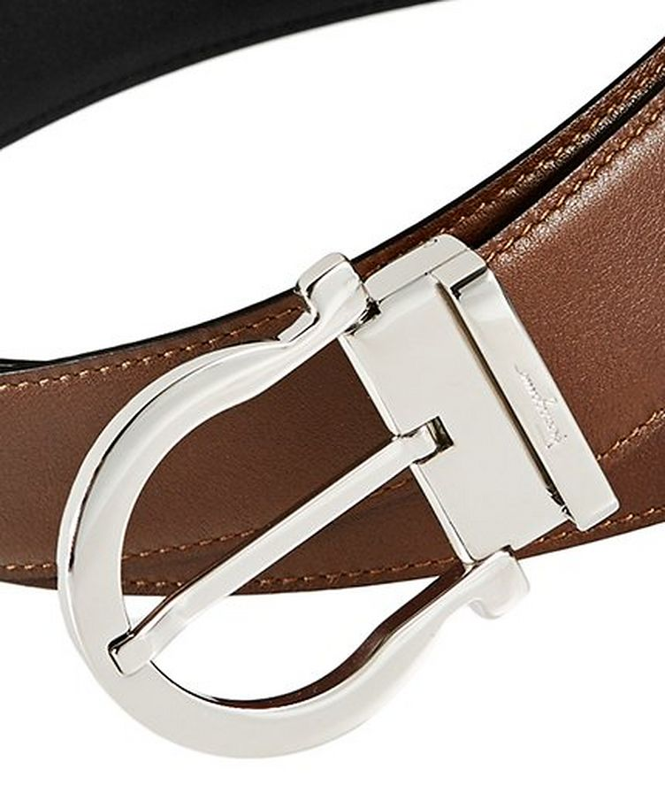 Reversible Gancini Leather Belt image 1