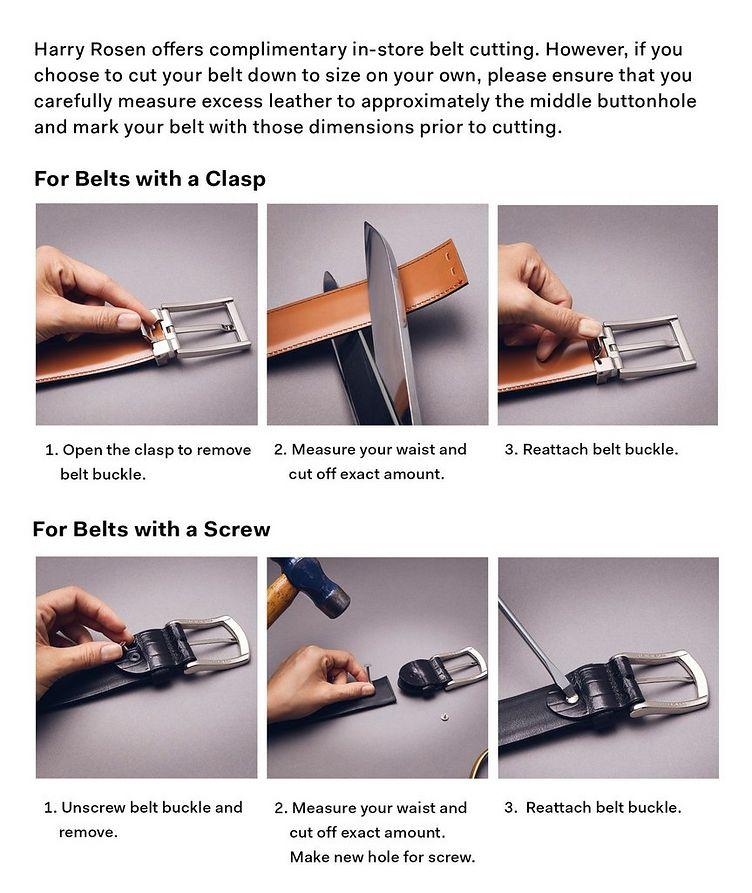 Reversible Gancini Leather Belt image 2