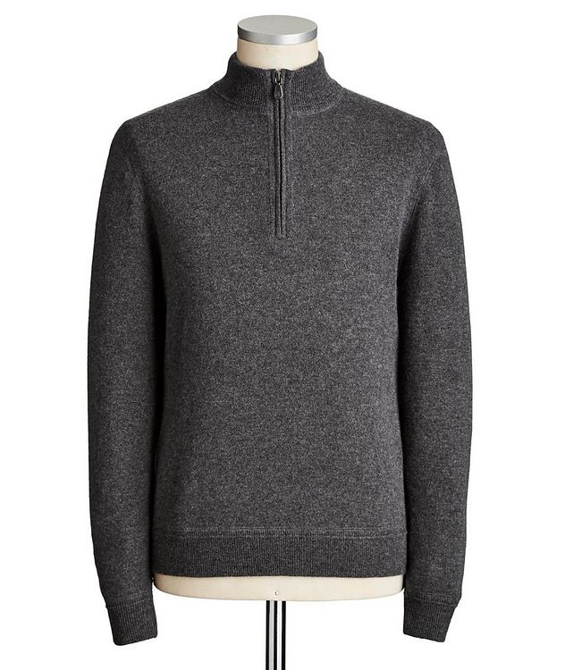 Half-Zip Cashmere Sweater picture 1