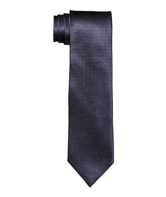 Ermenegildo Zegna Printed Silk Tie