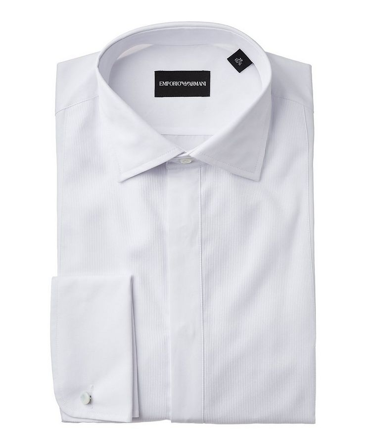Slim Fit Ribbed Dress Shirt  image 0