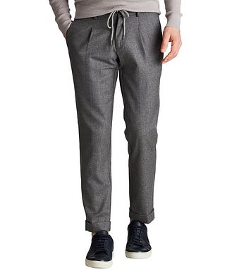 Fradi Slim Fit Wool Pants