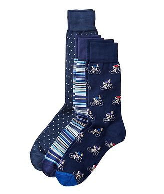 Paul Smith Printed Cotton Socks