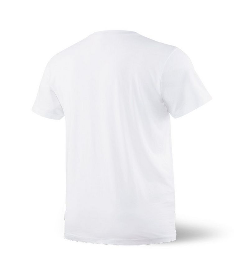 V-Neck Cotton Blend T-Shirt image 1