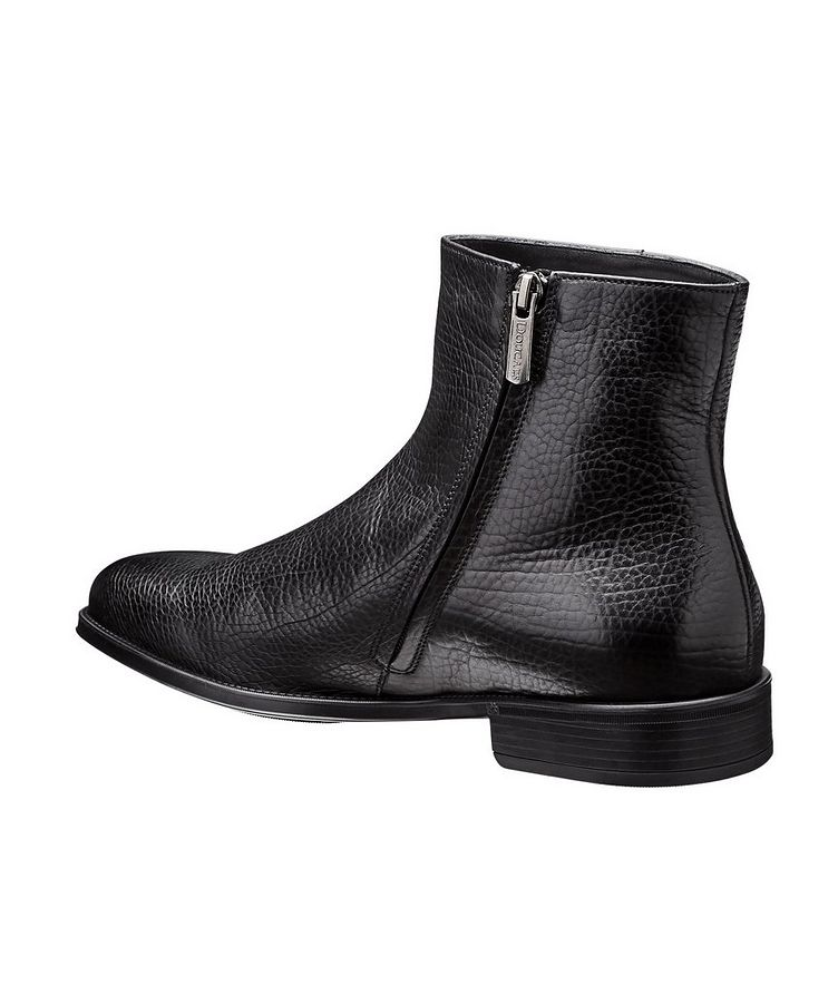 Fur-Lined Leather Chelsea Boots image 1