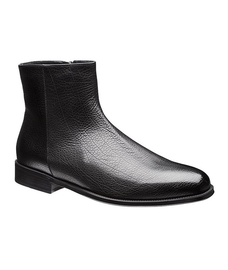 Fur-Lined Leather Chelsea Boots image 0