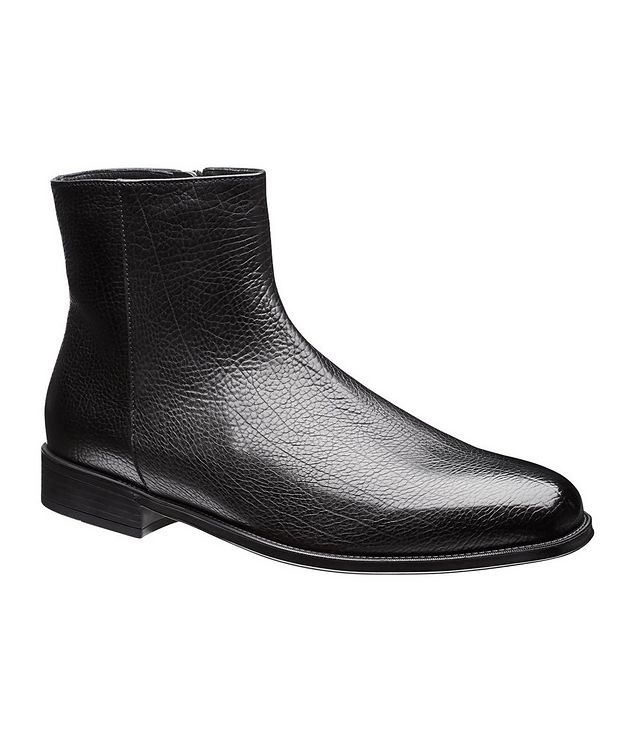Fur-Lined Leather Chelsea Boots picture 1
