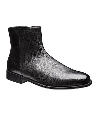 Doucal's for Harry Rosen Fur-Lined Leather Chelsea Boots