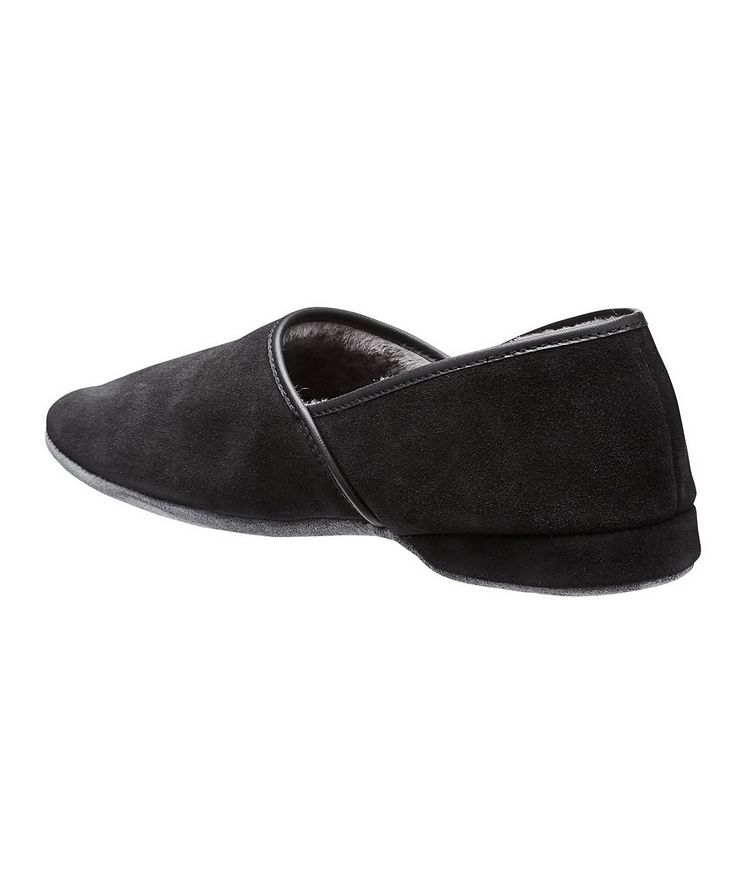 Suede Shearling Slippers image 1