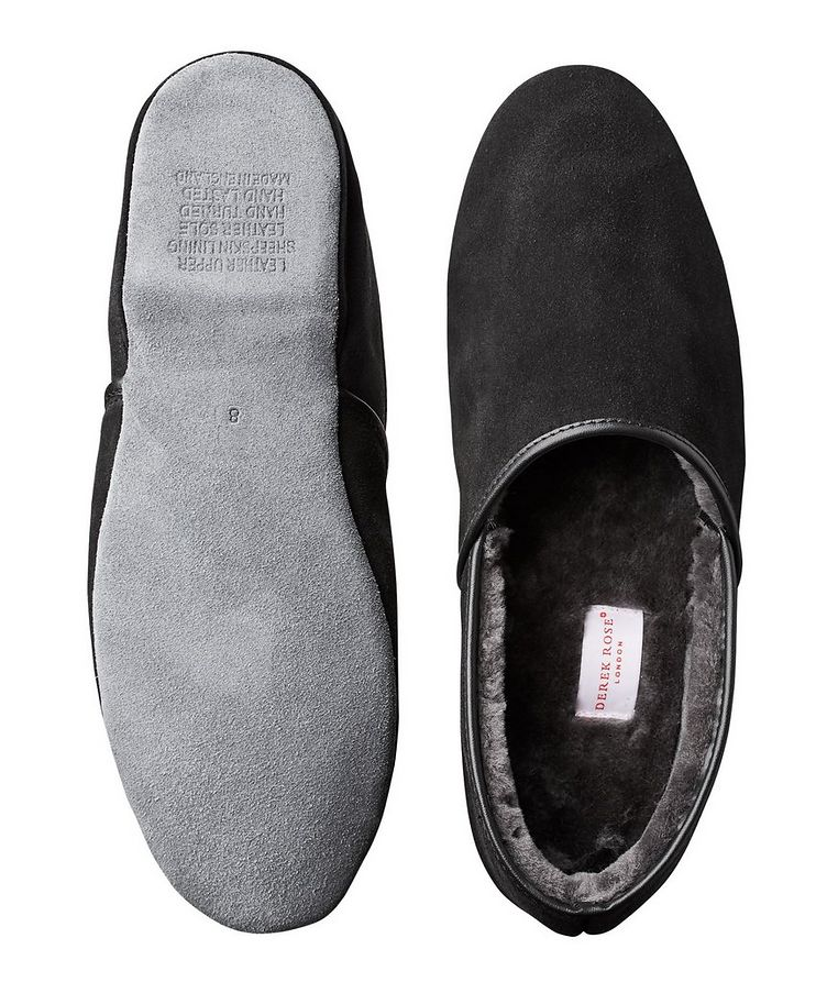 Suede Shearling Slippers image 2