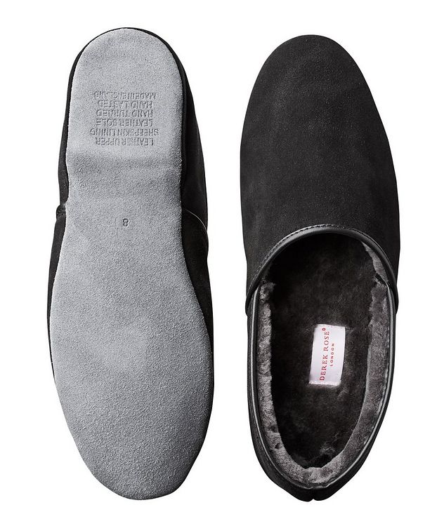 Suede Shearling Slippers picture 3
