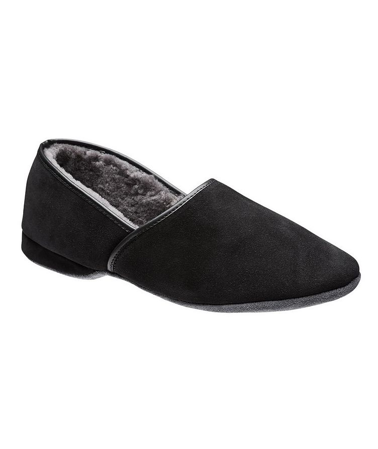 Suede Shearling Slippers image 0