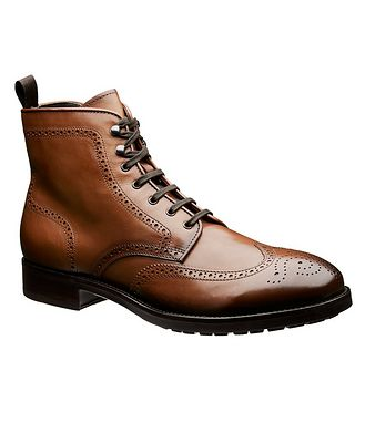 To Boot New York Leather Brogue Boots