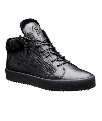 Giuseppe Zanotti Shearling Lined Mid-Top Sneakers