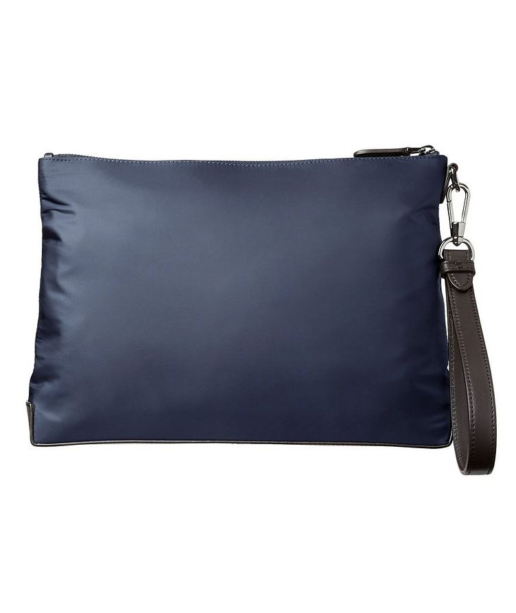 Pochette en nylon et cuir, collection Maserati image 1