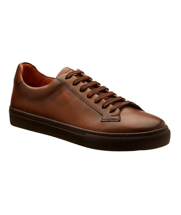 Leather Low-Top Sneakers picture 1