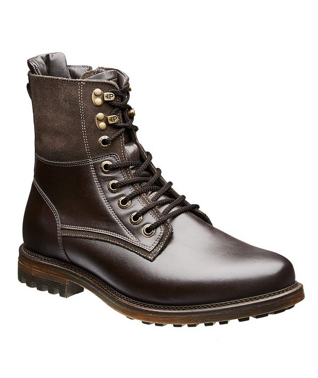 Waterproof Leather Shearling Lined Boots picture 1
