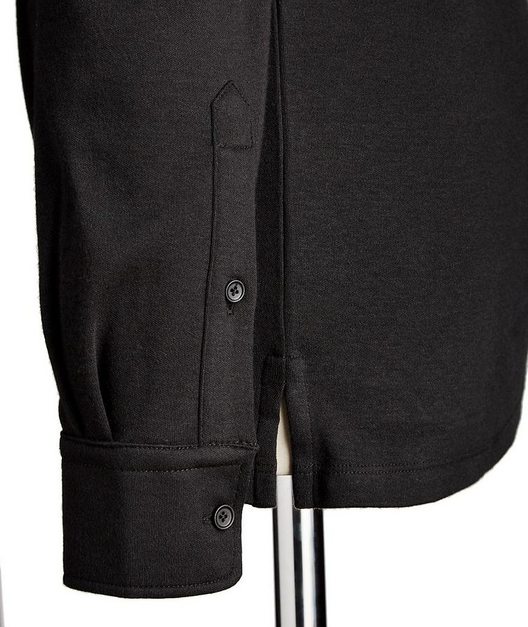 Long-Sleeve Cotton Polo image 2