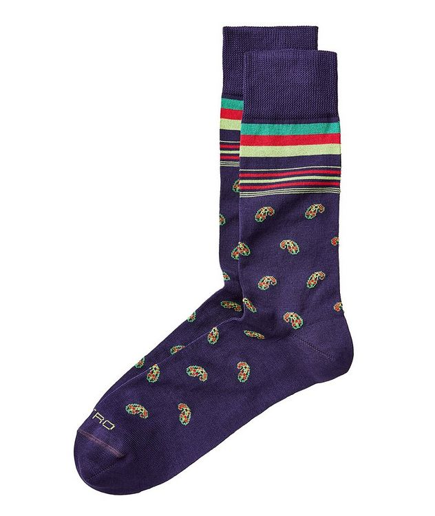 Printed Cotton Blend Socks picture 1