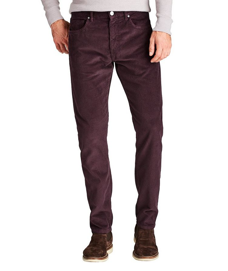 Slim Fit Corduroy Pants image 0