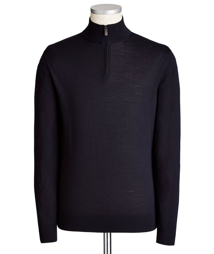 Half-Zip Wool Sweater image 0