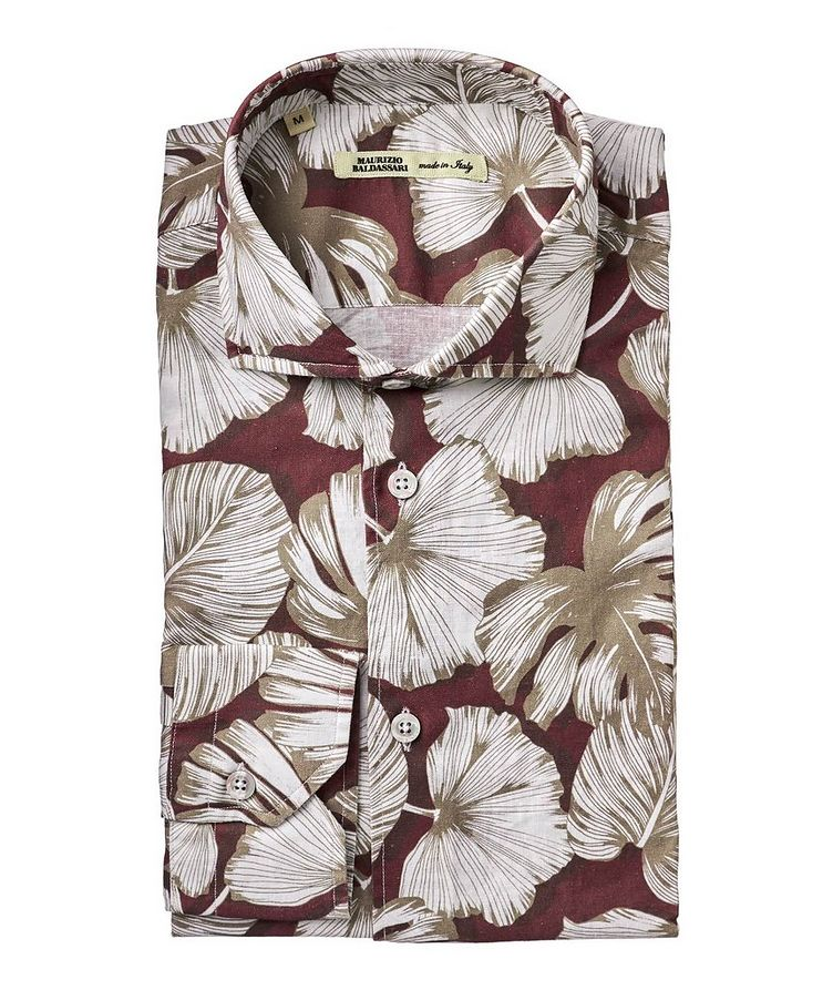 Botanical Print Cotton-Linen Shirt image 0