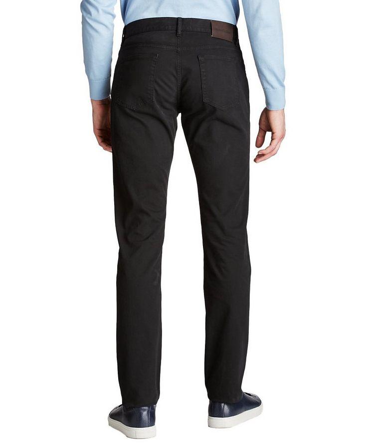 Pantalon en coton extensible de coupe droite image 1