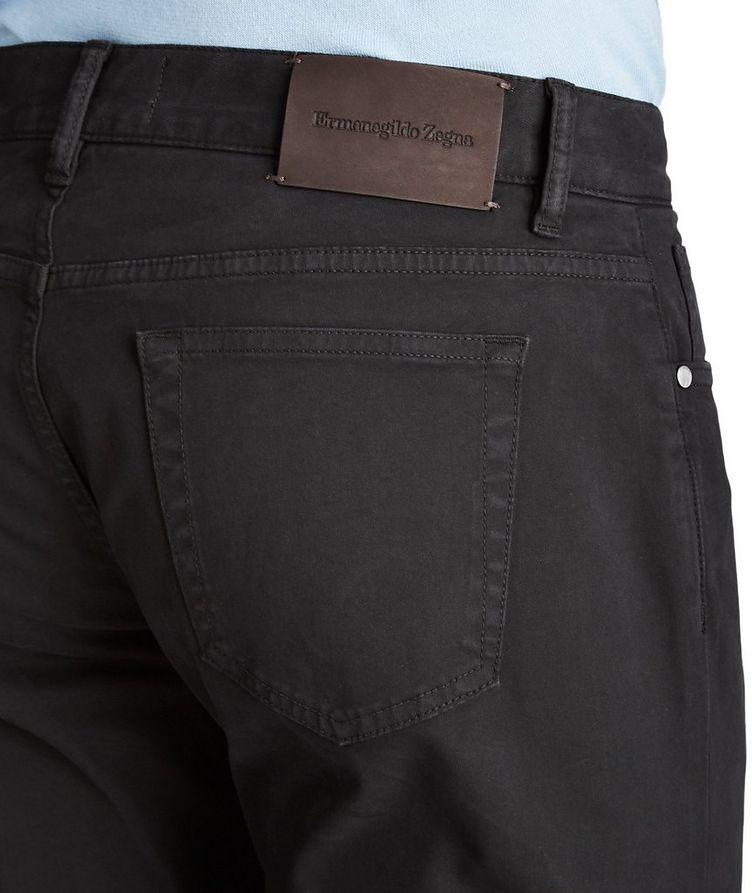 Pantalon en coton extensible de coupe droite image 2