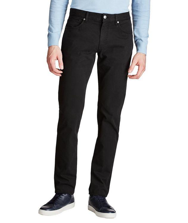 Pantalon en coton extensible de coupe droite picture 1