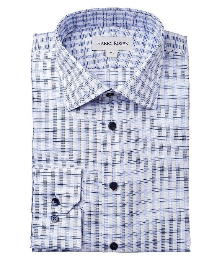 Contemporary Fit Checked Dress Shirt image 0