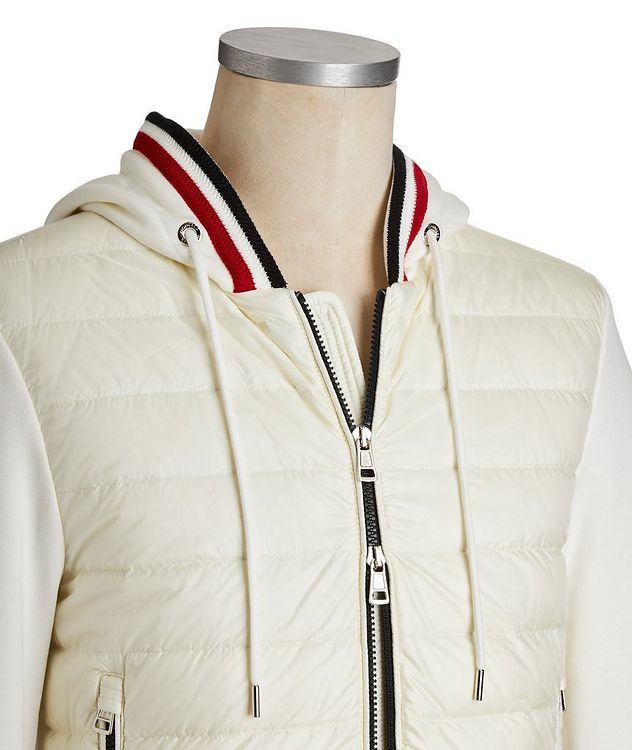 Zip-Up Quilted Hoodie picture 4